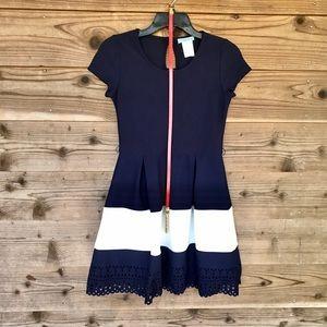 Tween Diva Lazer Cutout Hem Belted Dress Sz14